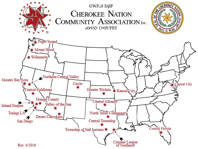 CNCA Satellite Community Map Revised 04/2016